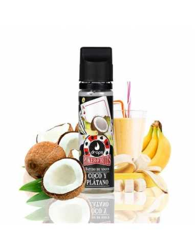 Drops Poker Fruits Batido de Coco Plátano 50ml
