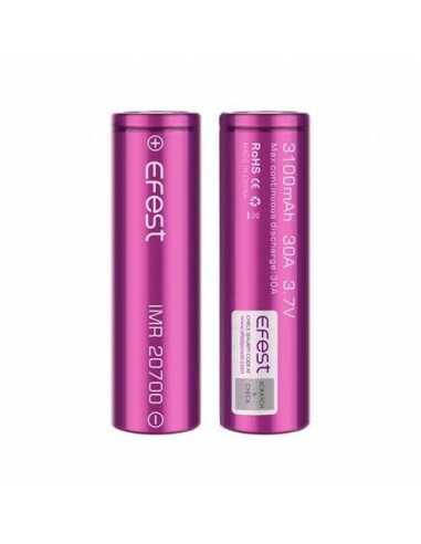 Efest Batería IMR 20700 3100MAH 30A FLAT TOP