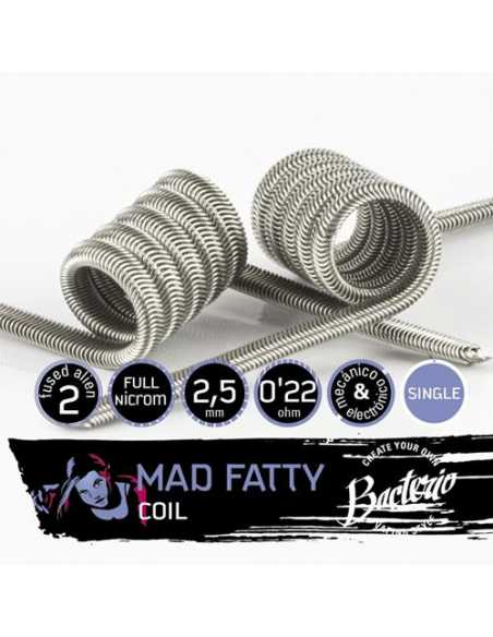 Bacterio Coils Mad Fatty Single Coil 0.22 Ohm (Pack 2)