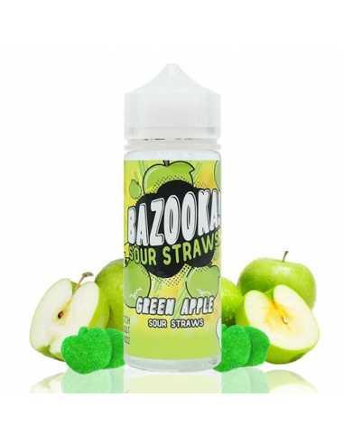 Bazooka Sour Straws Green Apple 100ml